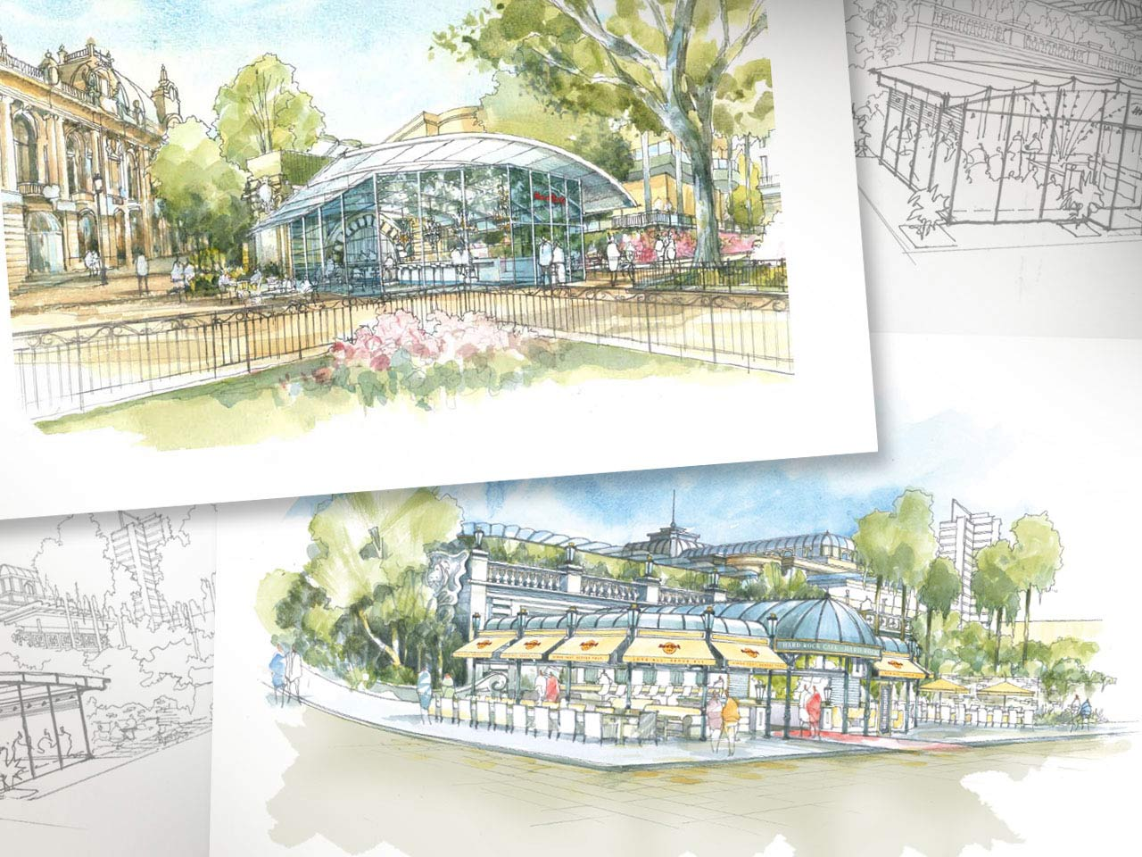 sample illustrations showing some of the many exterior design variations