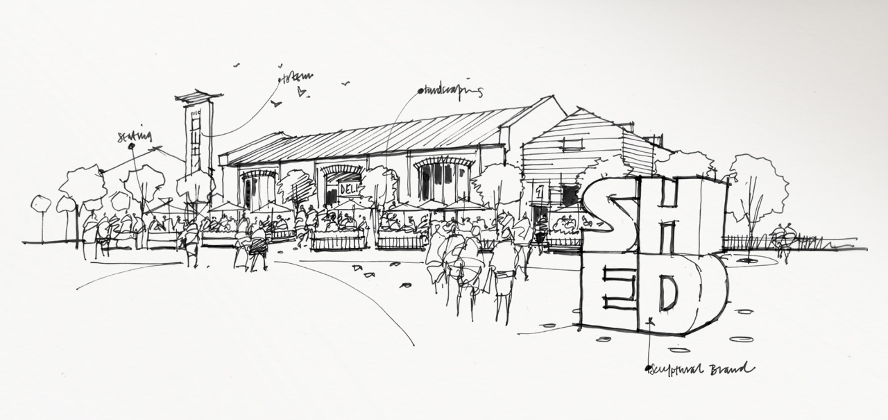 concept sheet for The Shed